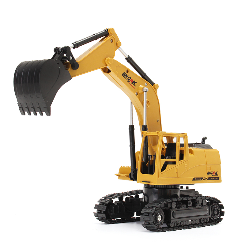AO HAI 1/24 2.4Ghz 8CH Die-cast Remote Excavator Engineer Truck Car Toys
