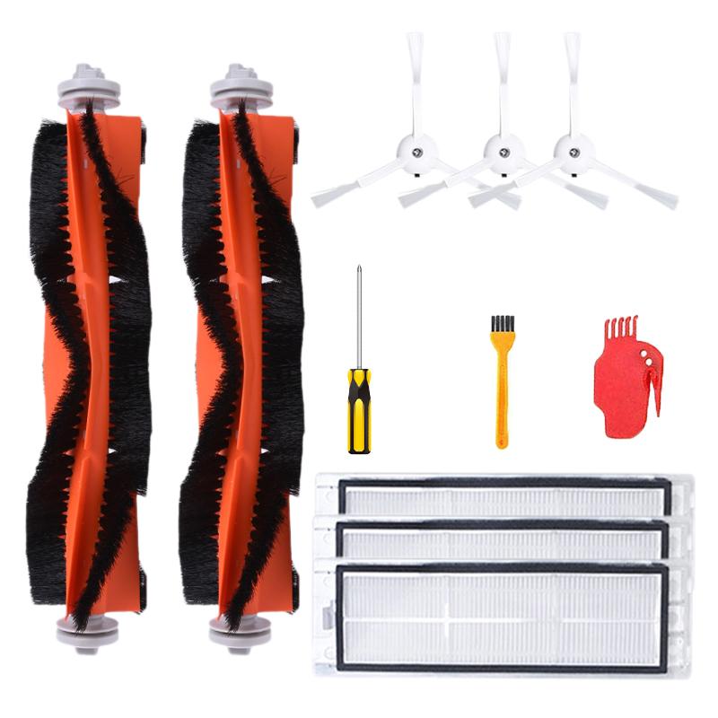 11PCS Accessories Parts Main Brush Side Brush Filter Comb Screw Blade For  Xiaomi Robot Vacuum Cleaner 40