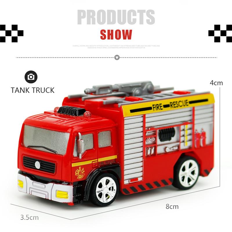 Coke Can Shenqiwei 8027 1:58 Water Tank Truck Fire-Engine RC Car Mini 4 Channel