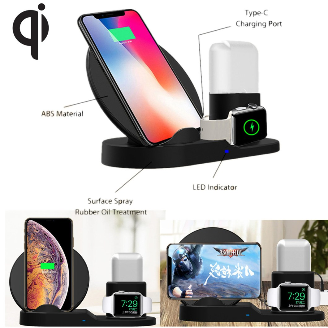 Bakeey 3 In 1 Fast Qi Wireless Charger Stand Dock For