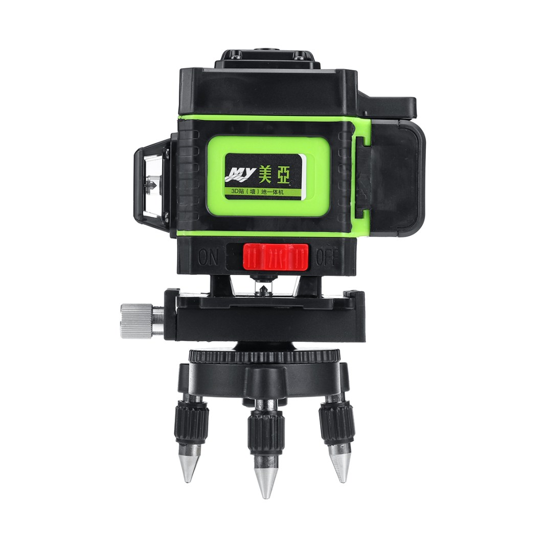 12 Lines Laser Level Measuring DevicesLine 360 Degree Rotary Horizontal And Vertical Cross Laser Level  with Base 34
