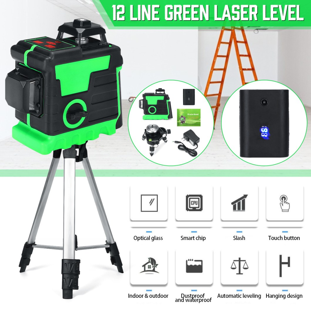 3D 12 Cross Line Laser Line Laser Spirit Level Automatic Self Leveling 22