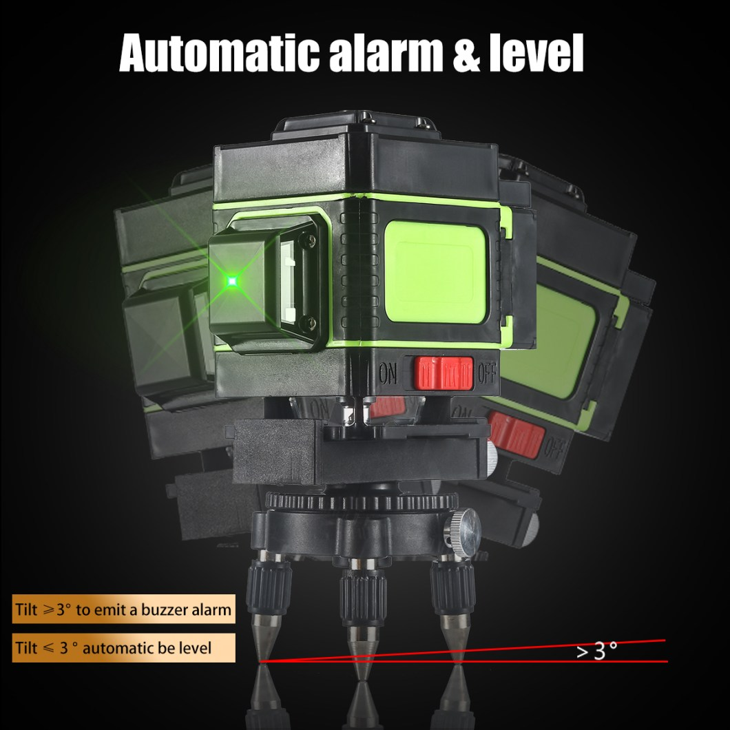 12 Lines Laser Level Measuring DevicesLine 360 Degree Rotary Horizontal And Vertical Cross Laser Level  with Base 29