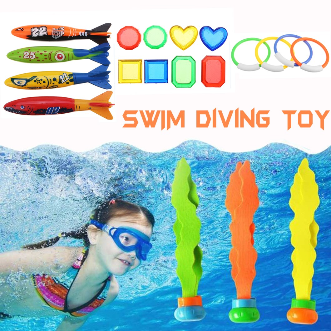 19PCS Swimming Pool Underwater Diving Toys Water Play Toys for Kids 11