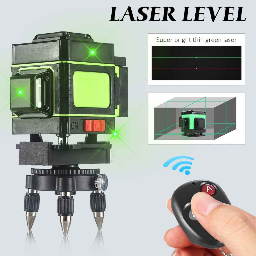 12 Lines Laser Level Measuring DevicesLine 360 Degree Rotary Horizontal And Vertical Cross Laser Level  with Base 28
