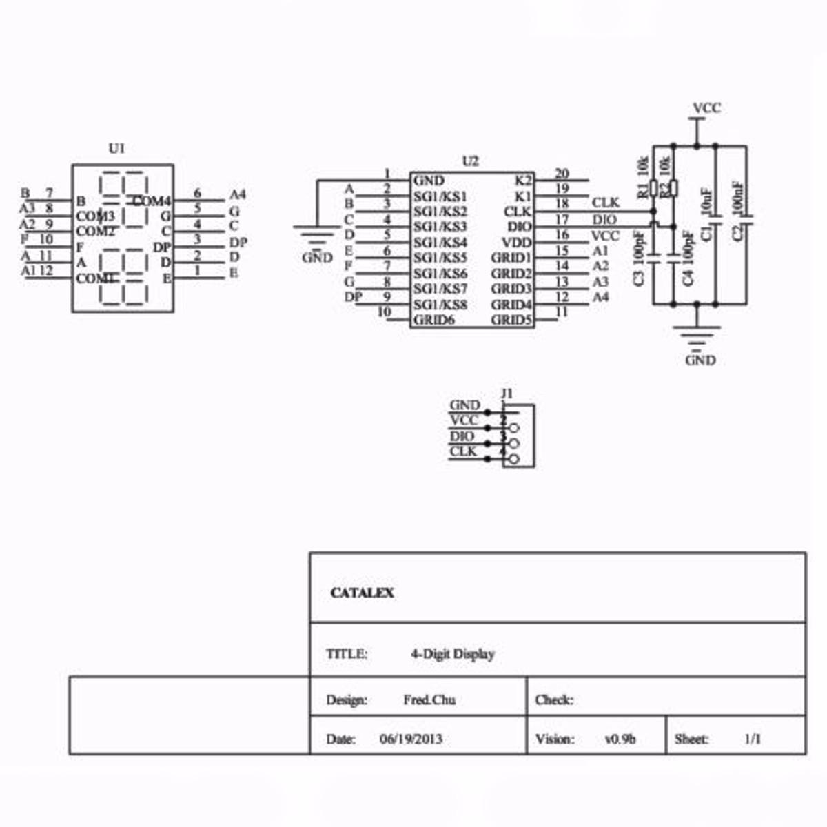Tm 4 Bits Digital Led Display Module 7 Segment 0 36