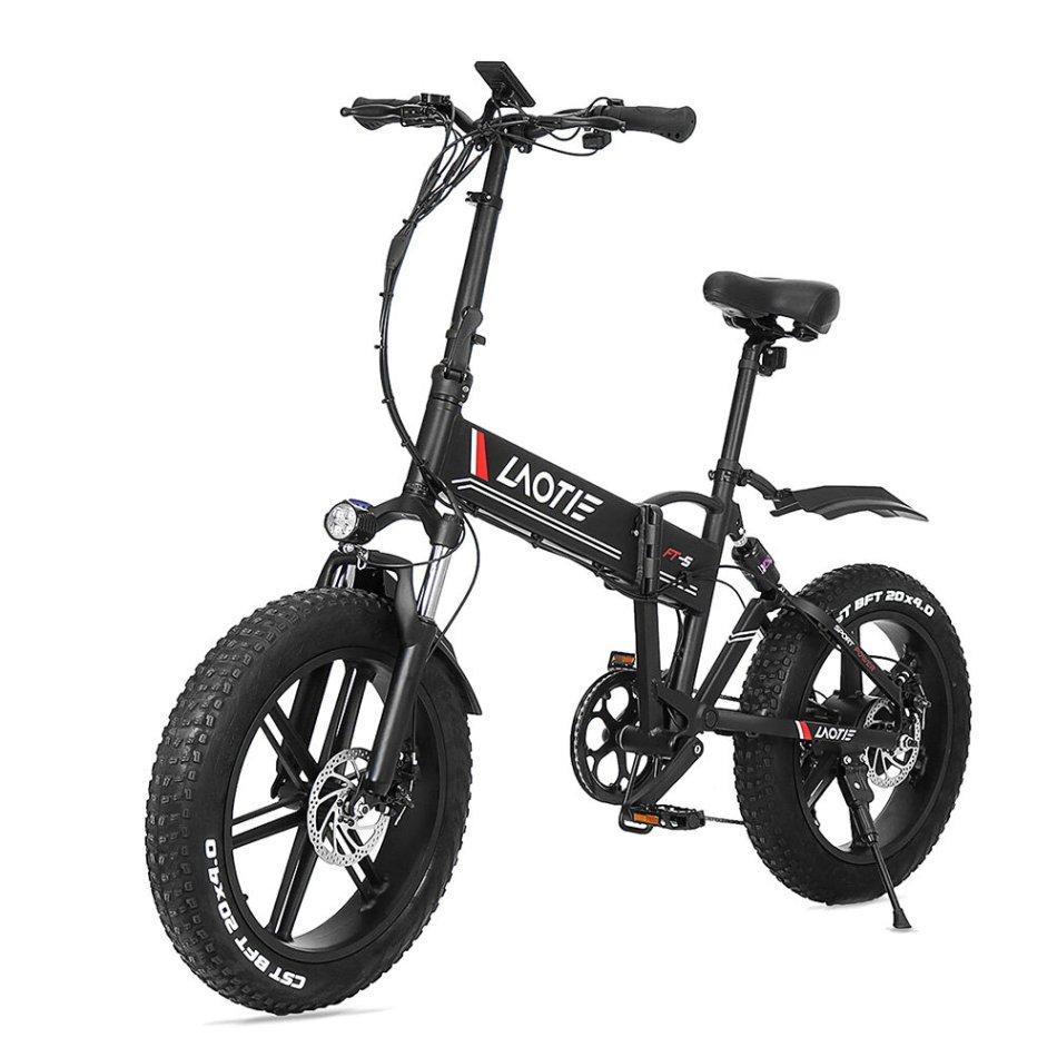 LAOTIE® FT5 20in Fat Tire 48V 10Ah 500W Folding Electric Moped Bike 35km/h Top Speed 80-90km Mileage E-Bike