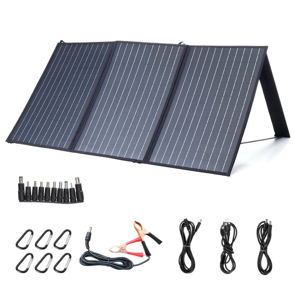 XMUND XD-SP2 100W 18V Solar Panel 3-USB+DC PD Fast Charging Outdoor Waterproof Solar Charger For Camping Travelling Car RV Charger
