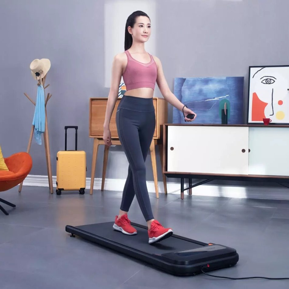 [EU Direct] UREV0 U1 Fitness Walking Pad Ultra Thin Smart Treadmill Exercise Gym Equipment Remote Control LED Display Outdoor Indoor