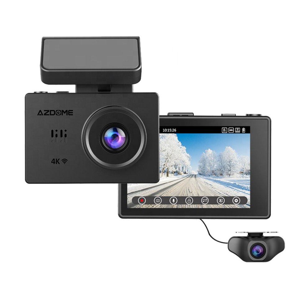 AZDOME M10 Pro 4K 3.0 Inch Dash Cam OLED Touch Screen Ultra HD Car DVR Camera Recorder WIFI GPS