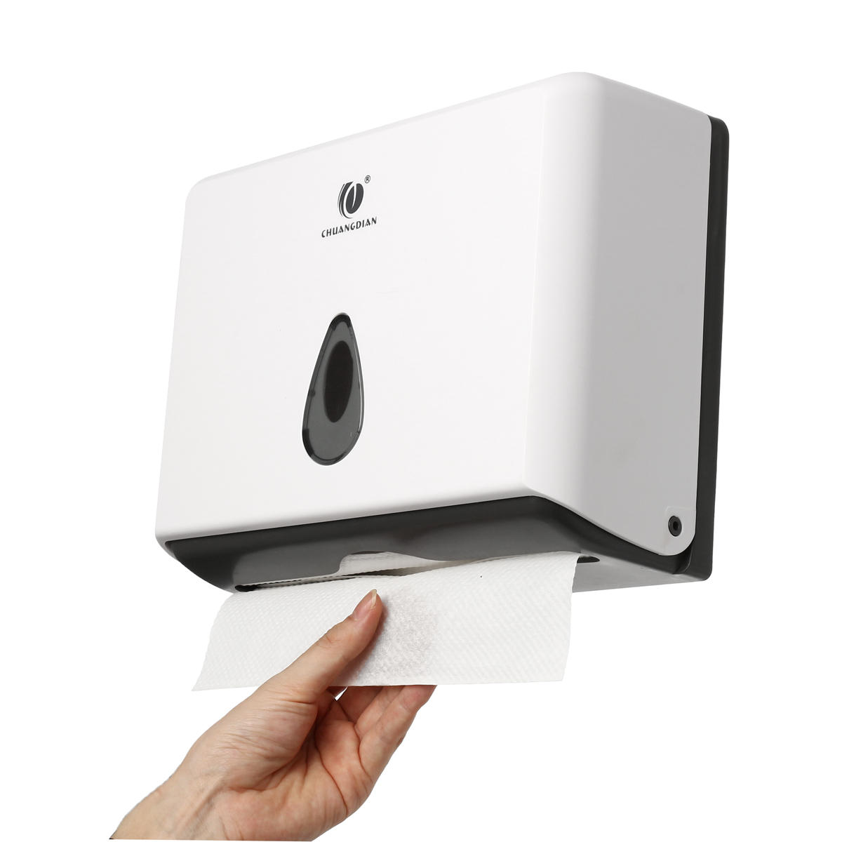 wall mounted bathroom hand paper towel dispenser box ... on Wall Mounted Tissue Box Holder id=94655