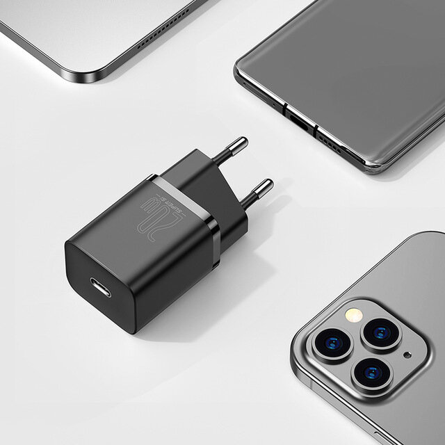 Baseus Super Si 20W USB C PD Charger PD3.0 QC3.0 Fast Charging Wall Charger EU Plug US Plug Adapter For iPhone 12 12 Mini 12 Pro 11 Pro Max For Samsung Galaxy Note 20 Huawei Xiaomi For iPad Pro 2020