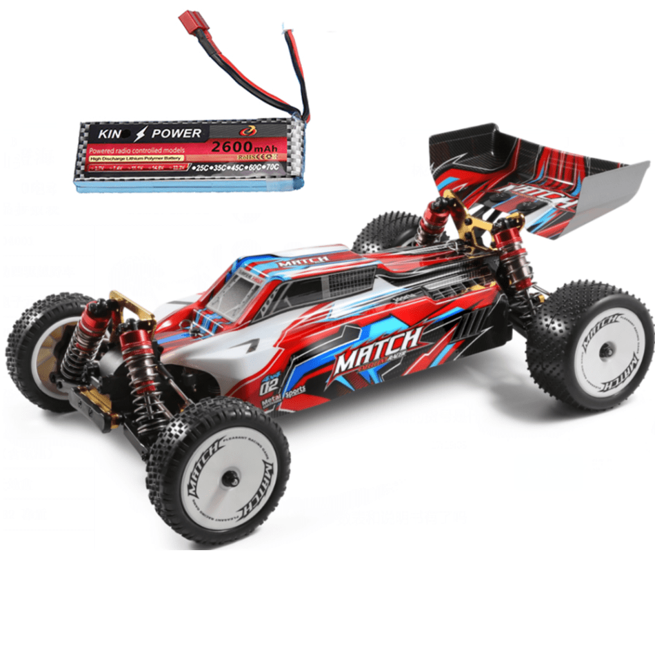 Wltoys 104001 RTR Upgraded 7.4V 2600mAh RC Car 1/10 2.4G 4WD 45km/h Metal Chassis Vehicles Models Toys