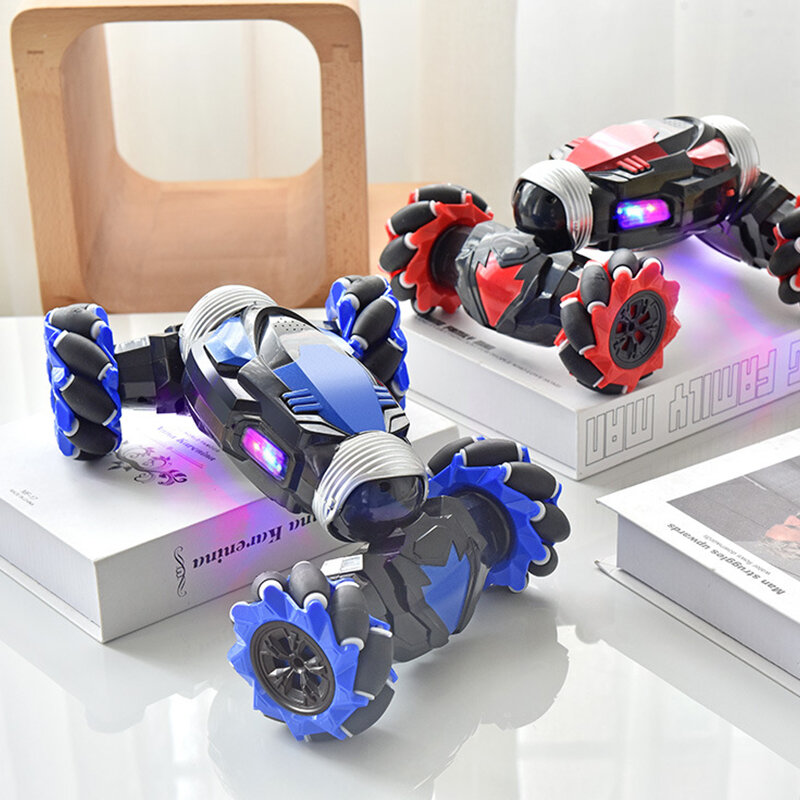 RC Stunt Car Twist Car Watch Induction Gesture Control Deformation Off-road Mode Flat Mode for Kid Gift