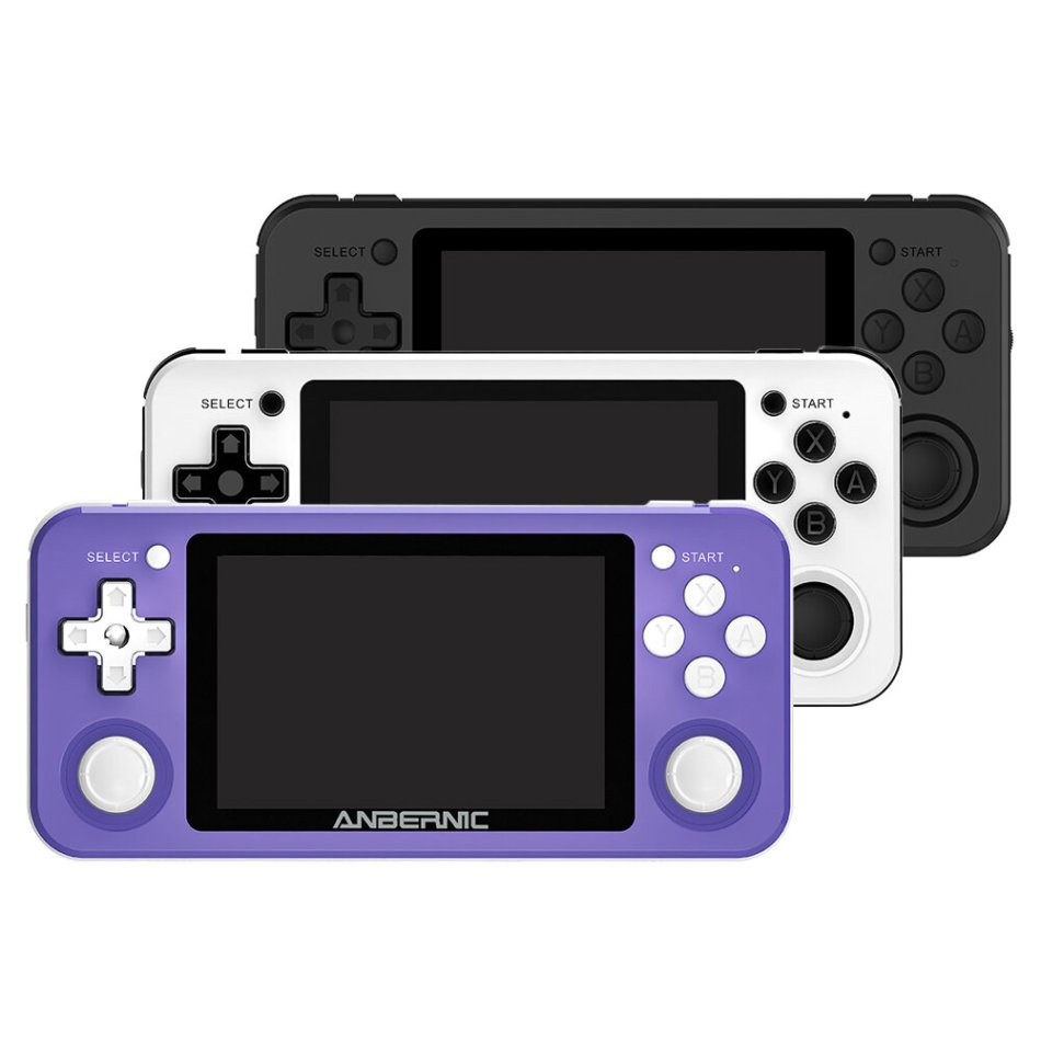 ANBERNIC RG351P 64GB 2500 Games IPS HD Handheld Game Console Support for PSP PS1 N64 GBA GBC MD NEOGEO FC Games Player 64Bit RK3326 Linux System OCA Full Fit Screen