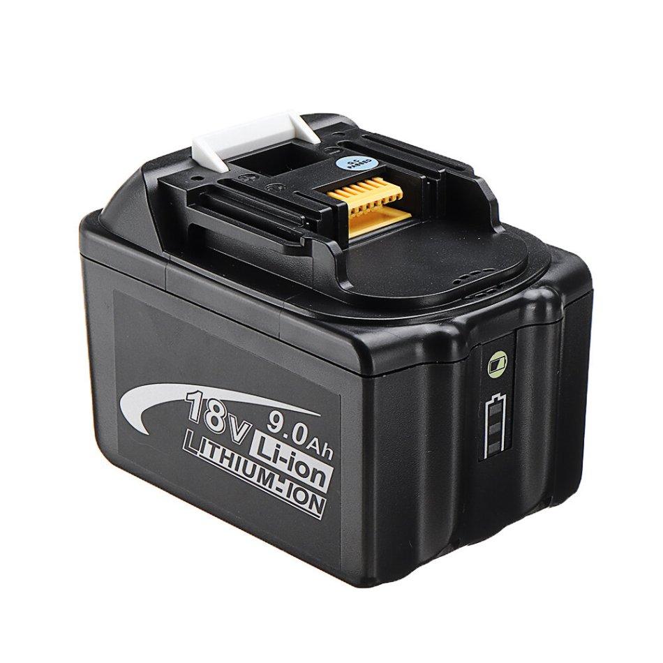 LED Light MAK-18B-Li 18V Li-Ion 9.0Ah Battery Replacement Power Tool Battery For Makita BL1830 BL1840 BL1850 BL1860
