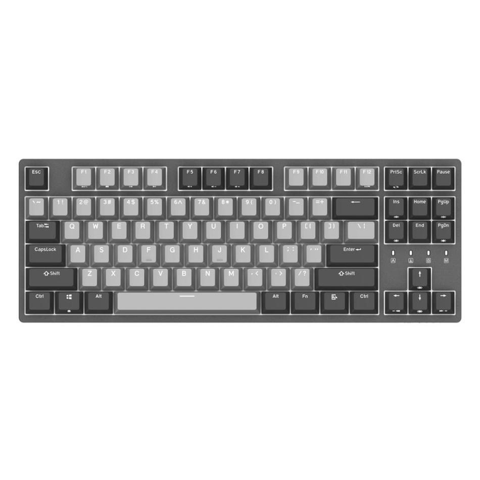DURGOD K320 87 Keys Mechanical Gaming Keyboard Corona Cherry MX Silent Red Switch PBT Keycaps Gaming Keyboard