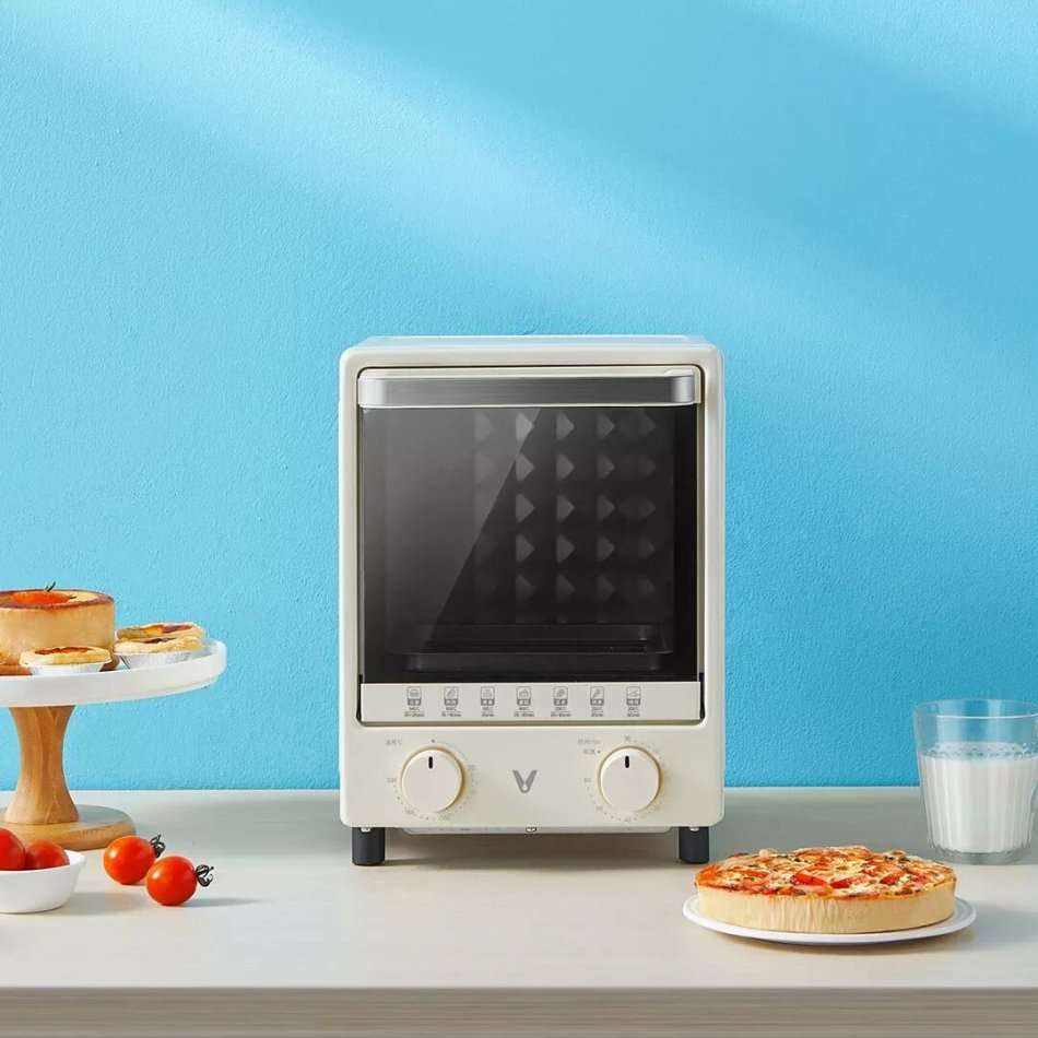 VIOMI Electric Oven Three-tier Grill Evenly Heated Insulation Fine Control Knob 12L 800W