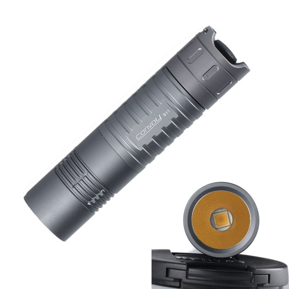 CONVOY S11 GT FC40 2500LM High CRI Tactical Flashlight 26650 Battery High Color Rendering Floody Light Super Bright Hunting Riding Night Fishing LED Torch