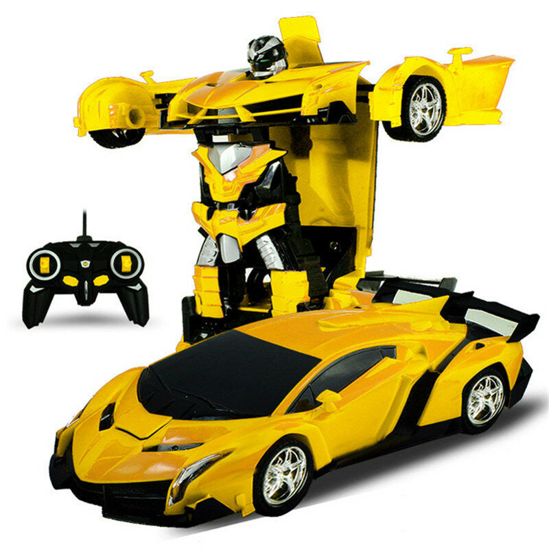Rastar 2 In 1 Rc Car Sports Wireless Transformation Robot Models Deformation Fighting Toys