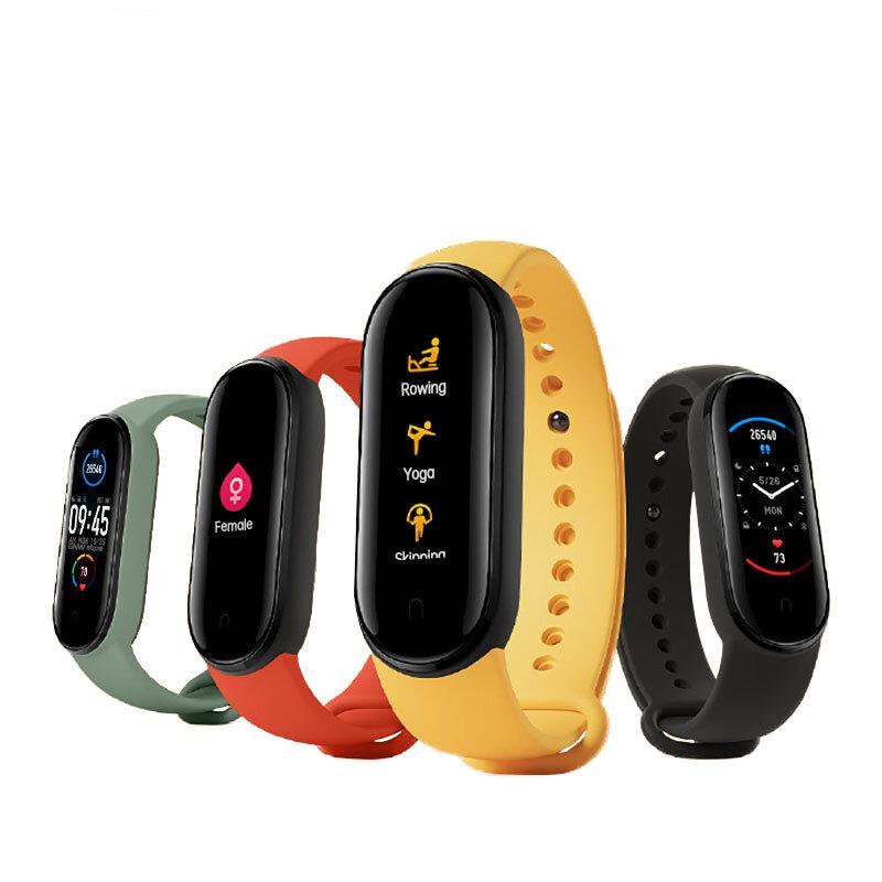 [Blood Oxygen Monitor]Original Xiaomi Mi band 5 AMOLED Wristband AI Voice Assistant Fitness Tracker Smart Watch Global Version