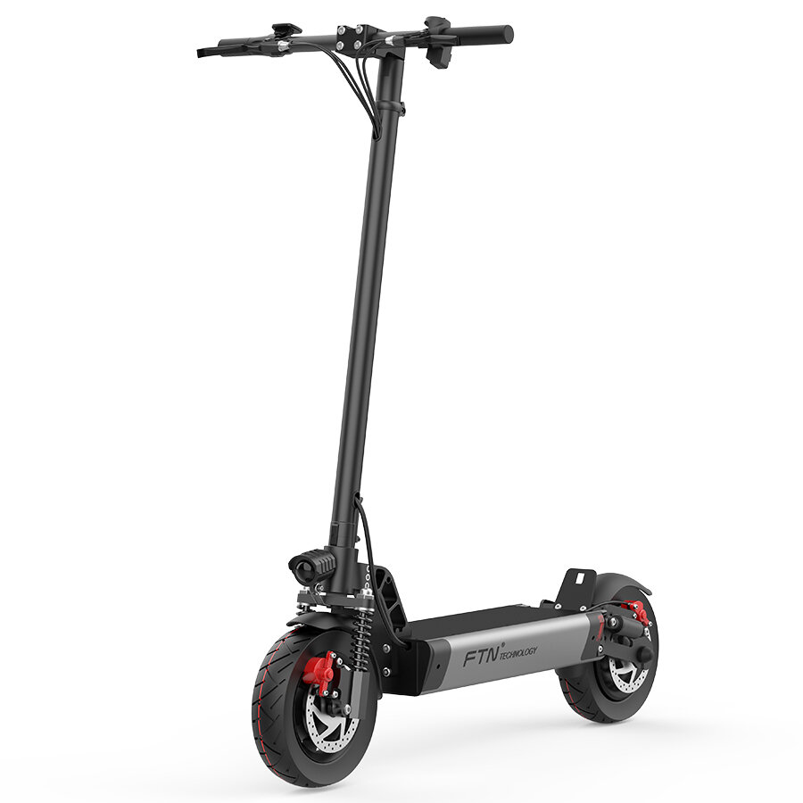 FTN S1 12AH 48V 500W 10in Folding Electric Scooter 20km/h Top Speed 30km Mileage 150kg Playload Double Brake E Scooter