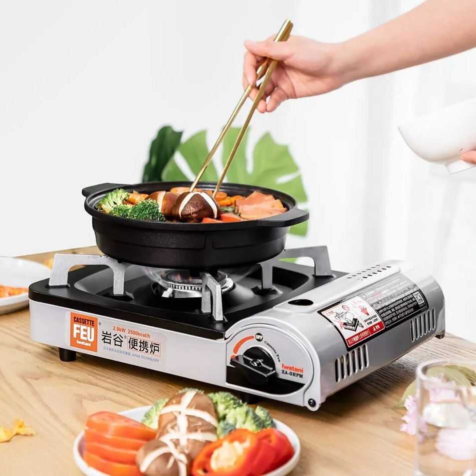 IWATANI ZA-3HPM Portable Cassette Stove Explosion-proof Windproof Great for Outdoor