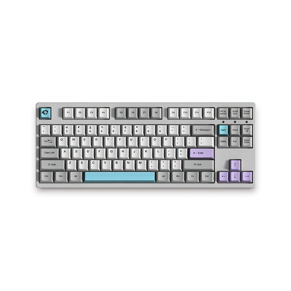 AKKO 3087 V2 Silent 87 Keys Mechanical Gaming Keyboard Wired Morandi Grey AKKO Switch PBT Keycap Gaming Keyboard
