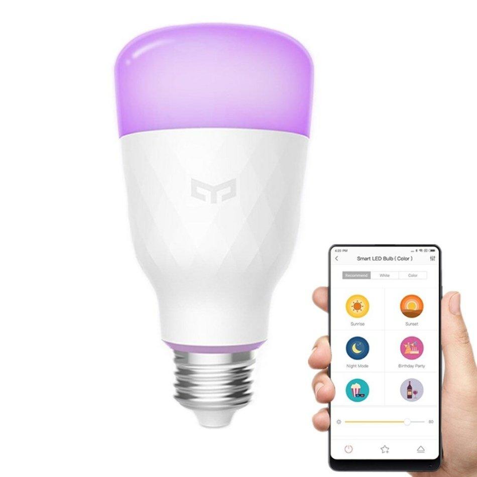 US$23.99Xiaomi Yeelight YLDP06YL E26 E27 10W RGBW Smart LED Bulb Wifi App Control AC100-240VLED Light BulbsfromLights & Lightingon banggood.com