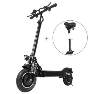 Στα €667.98 από αποθήκη Κίνας | T10 2000W Dual Motor 23.4Ah 10 Inches Folding Electric Scooter with Seat