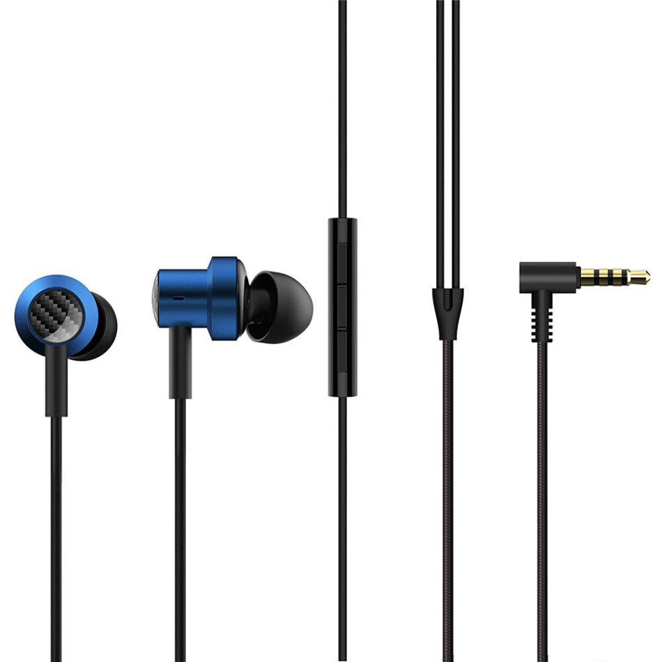 Original Xiaomi Dual Drivers Earphone 3.5mm Earphones HiFi Deep Bass Wired Control Magnetic Earbuds Headphone with Mic