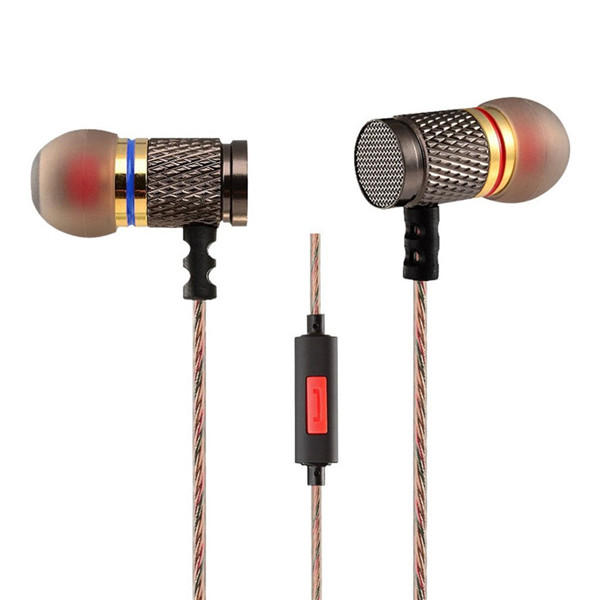 KZ EDR1 Gold Plated Earphone 3.5mm Wired HiFi Bass Stereo Earphone With Mic