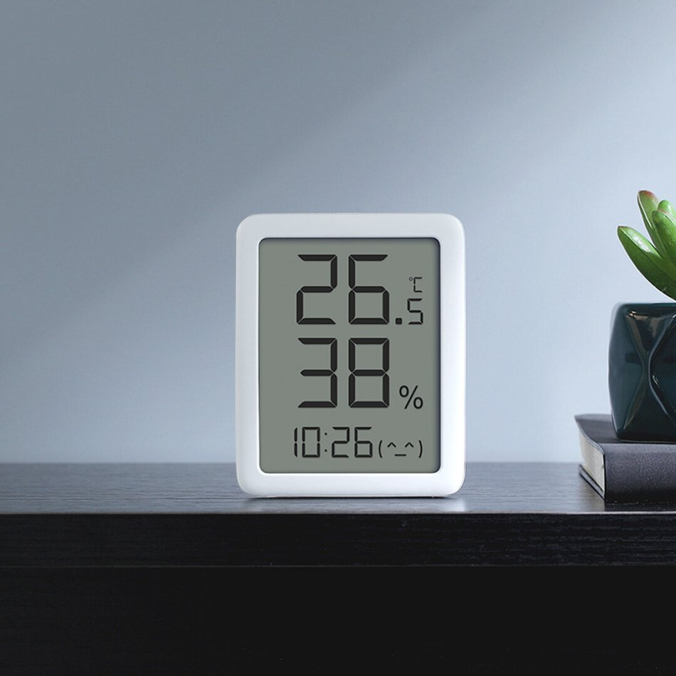 Miaomiaoce E-ink Screen LCD Large Digital Display Thermometer Hygrometer Temperature Humidity Sensor from Xiaomi Youpin