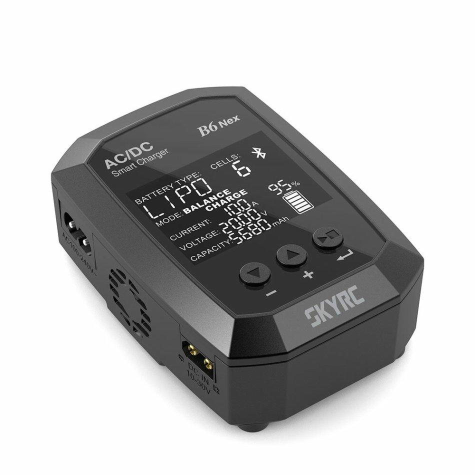 SKYRC B6 Nex AC 50W DC 200W 10A GaN Power 5.0 Bluetooth APP Battery Charger for LiPo Li-Ion LiHV LiFe NiMH NiCD Pb Battery