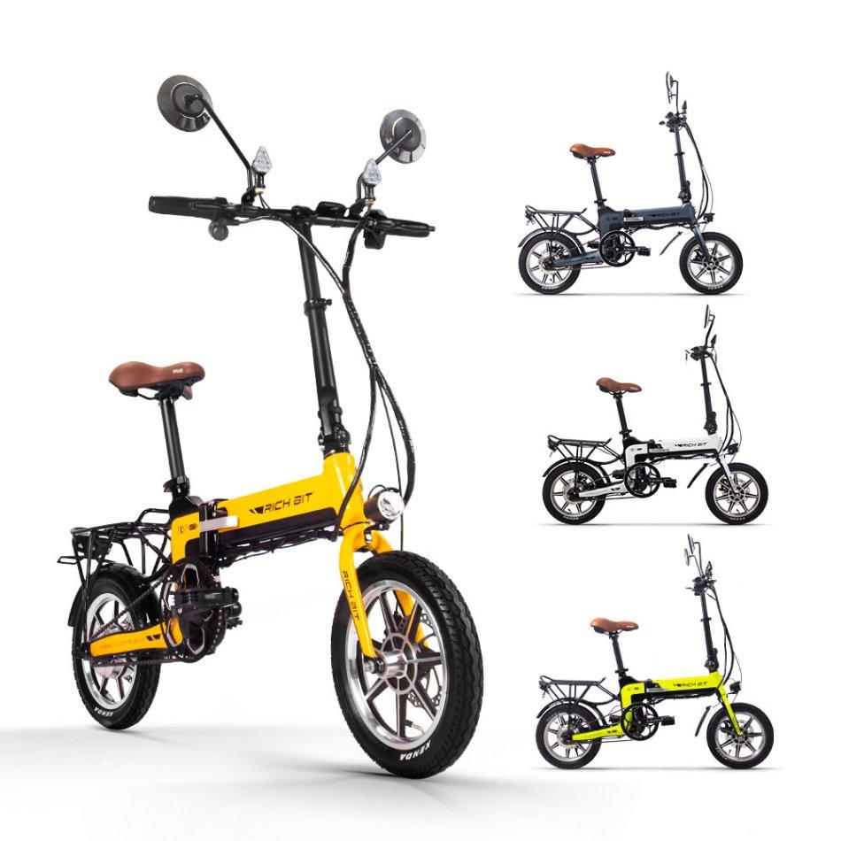 [EU Direct] RICH BIT TOP-619 36V 250W 10.2Ah 14 inch Folding Electric Bike 30-35KM/H Top Speed 70KM Mileage Range Moped Electric Bicycle
