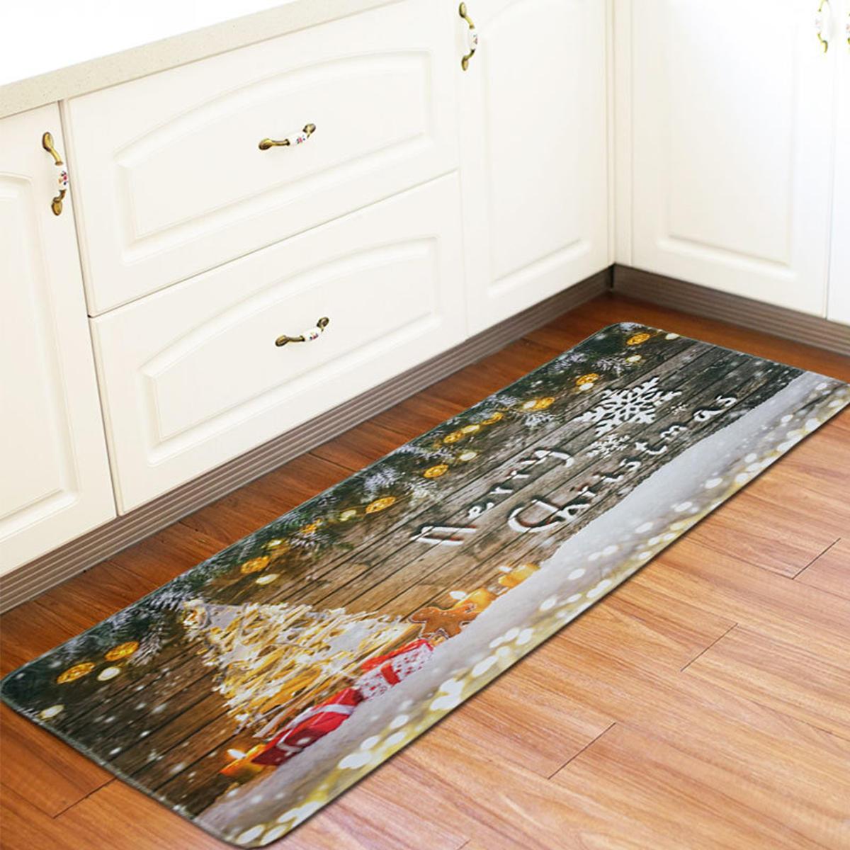 60 X 170cm Anti Skid Christmas Area Rugs Carpet Floor Mat Home Kitchen Bedroom