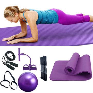 1Set Yoga Balls Yoga Mats Skipping Rope Spring Exercise Elastic Belt Fitness Multi-Function Yoga Fitness Equipment