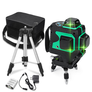 3D Green Auto Laser Level 12 Lines 360° Horizontal & Vertical Cross Build Tool Measuring Tools