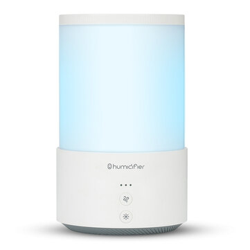 Loskii QD-H02 650ml Portable Desktop Double Jet Humidifier with Colorful Lights USB Charging Low Noise for Home Office