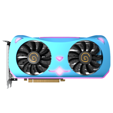Yeston RX580 2048SP-8GD5 MA GDDR5 256 bit 1284MHz 7000MHz Cute Pet Pink Purple Breathing Lamp Gaming Graphics Card
