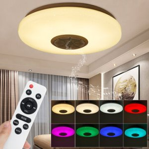 Στα 20€ από αποθήκη Τσεχίας | 30cm Diameter Bluetooth WIFI LED Ceiling Light RGB Music Speaker Dimming Lamp APP Remote HOT