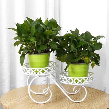 2 tier pumpkin car style metal plant stand indoor outdoor patio garden planter flower pot stand shelf home decor