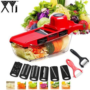XYJ CCFG8901 Multi-function Vegetable Cutter Steel Blade Mandoline Slicer Potato Peeler Carrot Cheese Grater Vegetable Slicing Tool