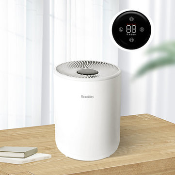 Beautitec Smart Evaporation Air Humidifier with 4.2L Capacity Digital Touch Screen Water-free Mist Timing Setting Automatic Constant Humidity for Home Bedroom Office