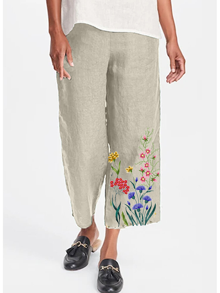 Best Flower Print Elastic Waist Casual Loose Pants For Women You Can Buy