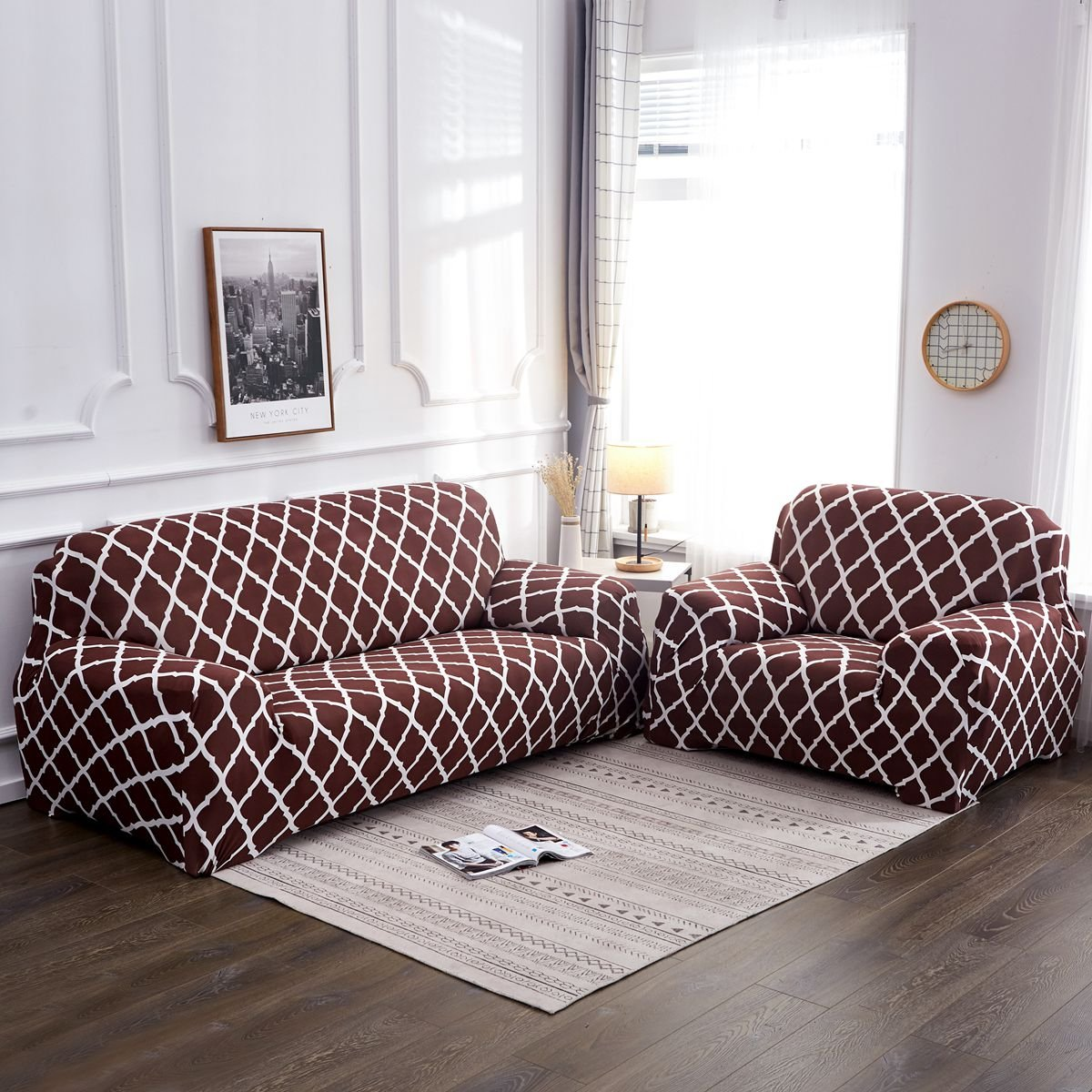 1 2 3 4 Seater Elastic Sofa Chair Covers Slipcover Settee Stretch Floral Couch Protector
