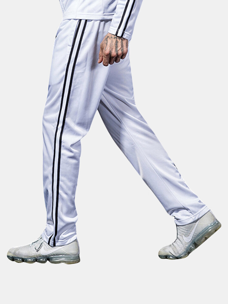 Best Mens Water-repellent Warm Solid Color Sweat Pants Elastic Waist Slim Fit Casual Jogger Pants You Can Buy