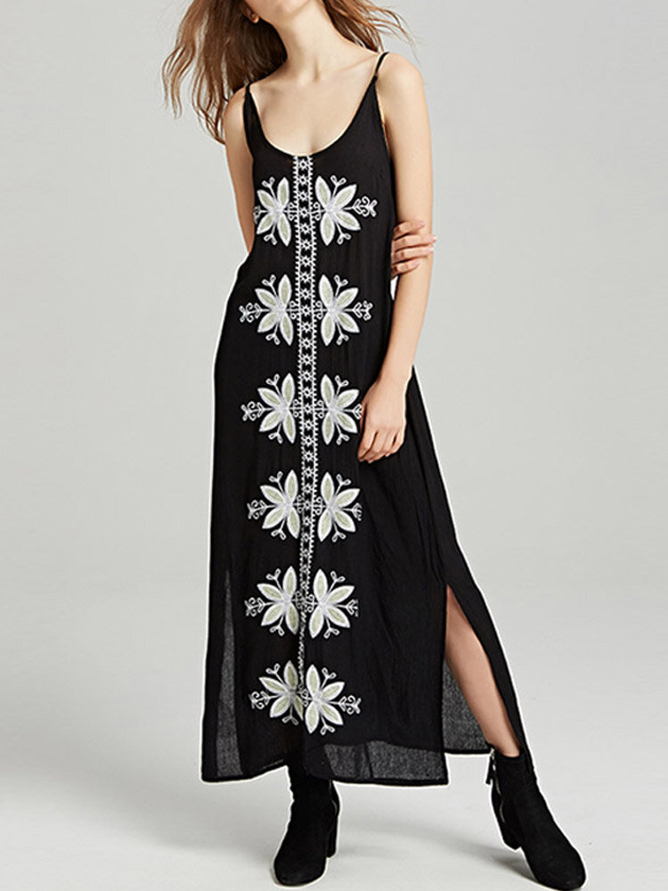 Best Ethnic Print Maxi Sleeveless Dress You Can Buy