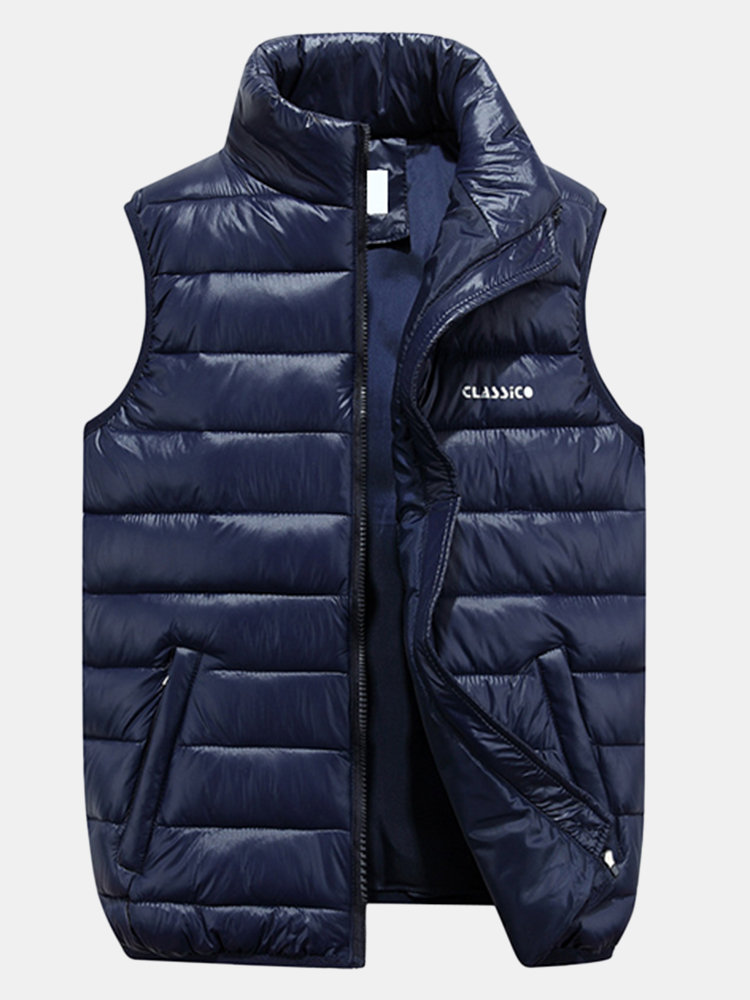 Best Travel Light Weight Portable Warm Stand Collar Down Padded Winter Coat Vest for Men You Can Buy