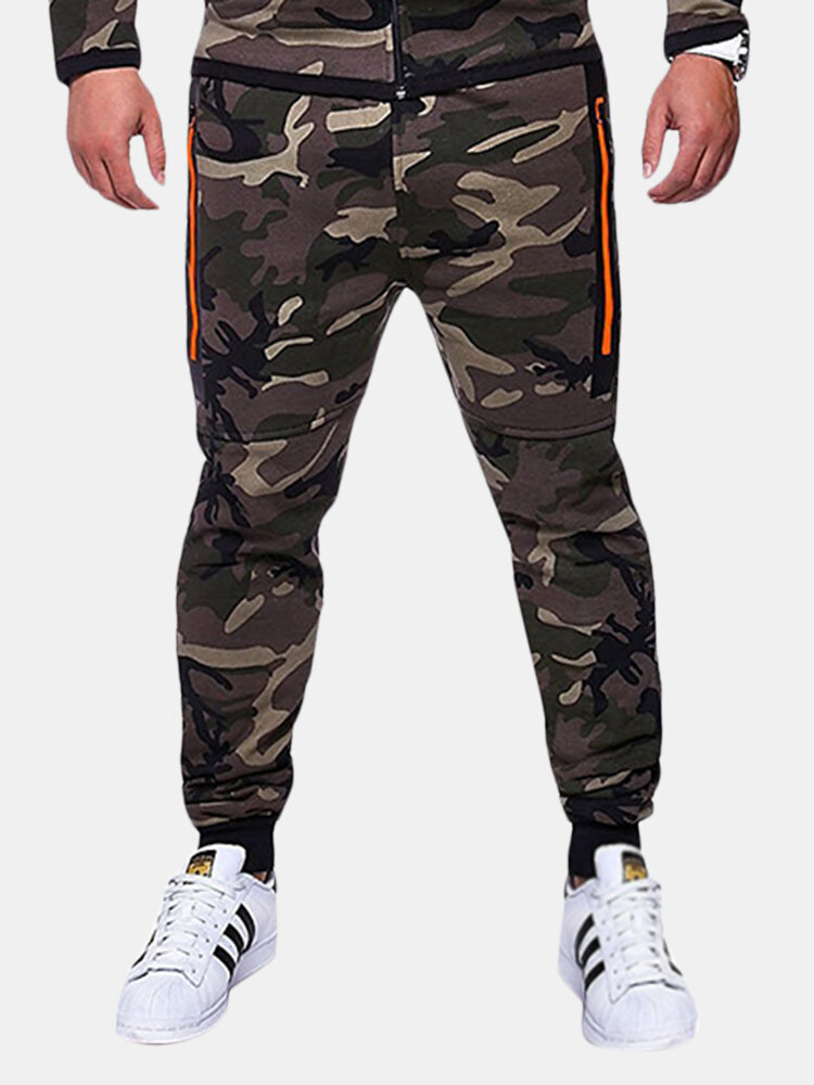 Best Mens Camouflage Drawstring Elastic Waist Slim Fit Fitness Jogging Casual Sport Pants You Can Buy